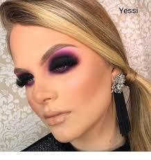 purple and black eye makeup inspiring