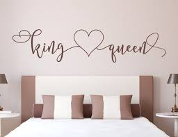 King And Queen Decal Master Bedroom Decal Headboard Etsy