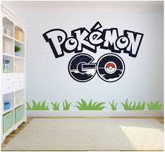 Amazon Com Pokemon Go Wall Art Wall Sticker Decal Kids Room Bedroom Wall Art Home Kitchen