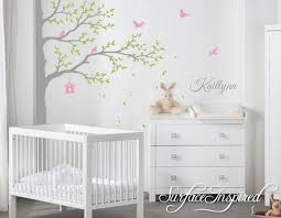 Nursery Wall Decals Stickers Large Corner Tree With Custom Name Decal Surface Inspired Home Decor Wall Decals Wall Art Wooden Letters