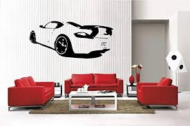 Amazon Com Newclew Sports Car 1 Removable Vinyl Wall Decal Home Decor Large Sport 1 Home Kitchen