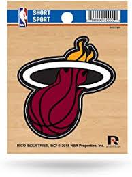 Amazon Com Sports Fan Decals Bumper Stickers Miami Heat Nba Decals Bumper Sticker Sports Outdoors