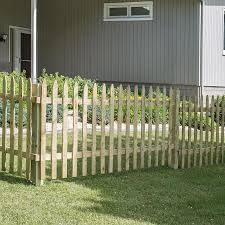 Severe Weather 3 5 Ft H X 8 Ft W Pressure Treated Spruce Pine Fir Spaced Picket Wood Fence Panel Lowes Com In 2020 Fence Panels Wood Fence Fence Design