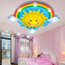 Rainbow Sun Clouds Led Kids Room Ceiling Light Cartoon Bedroom Light Creative Cute Men Girl Room Lamp Smiling Face Lamp Lu721174 Room Ceiling Lights Kids Room Ceiling Lightsgirls Room Lighting Aliexpress