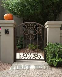 Outdoor Single Swing Iron Fence Gate Buy Wrought Iron Gate Single Wrought Iron Gate Beautiful Iron Gate And Fence Product On Alibaba Com