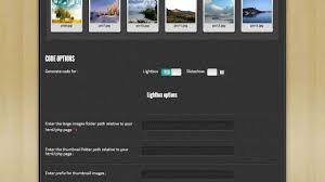 image gallery html code generator