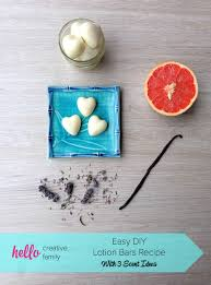 easy diy lotion bars recipe with 3