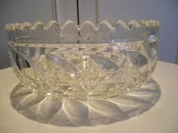 glass large decorative fruit centre