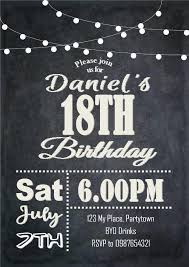 Male Birthday Invitation Printable Invitation 21st Invitations