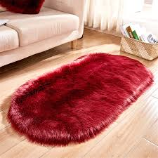 Oval Fluffy Plush Area Rug Non Skid Soft Shaggy Floor Carpet Mat Living Room Bedroom Kids Room Home Decor 47x 20 Inch Walmart Com Walmart Com