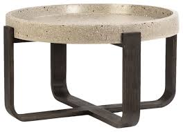 lorena coffee table white stone top lip