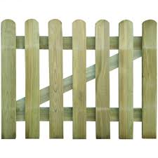 Festnight 80cm Garden Picket Fence Decorative Barrier With Posts 100 Cm High Wood Amazon Co Uk Kitchen Home