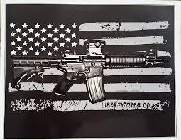 Amazon Com American Flag Ar15 Vinyl Decal Ar 15 Gun Bumper Sticker Sports Outdoors