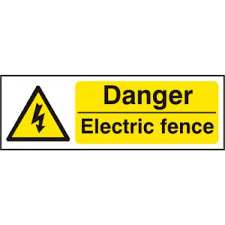 Danger Electric Fence Rpvc 300 X 100mm Electrical Hazard Warning Signs Labels Products Centurion Europe