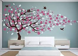 Amazon Com Vinyl Wall Decal Cherry Blossom Flower Tree Wall Decal Decals Child Wall Sticker Stickers Flowers Baby Girl Room Decor Children Kids Dk20 By Happyshopgoods Home Kitchen