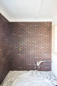 paint an industrial faux brick wall