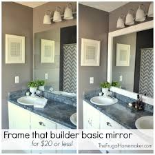 builder basic bathroom mirror