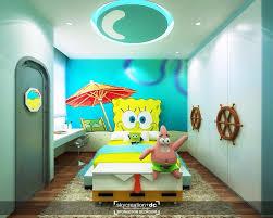 Spongebob Theme Tween Room Bunk Beds Boys Kids Bedroom