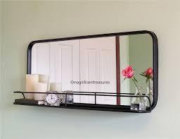 pharmacy style rectangular wall mirror