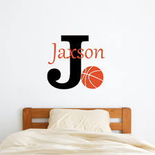 Personalized Name Basketball Wall Decal Sticky Wall Vinyl Llc