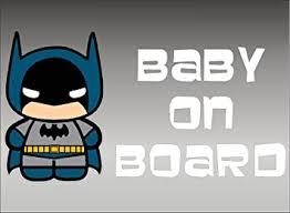 Amazon Com Batman Baby On Board Dc Comics Vinyl Vehicle Kids Window Graphic Decal Sticker Automotive