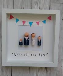 framed peg dolls personalised gift