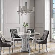 jade boutique round mirrored dining