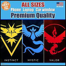 Pokemon Go Vinyl Decal Sticker Team Instinct Mystic Valor Phone Window Laptop Ebay