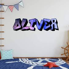 Trule Graffiti Galaxy Wall Decal Wayfair