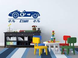 Vintage Race Car Wall Decal With Personalized Name Boys Room Decor H Decals By Droids