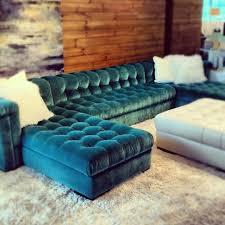 velvet furniture tufted sectional sofa