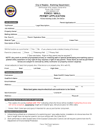 Https Www Naplesgov Com Sites Default Files Fileattachments Building Page 2461 Fence Wall Permit Application June2015 Pdf