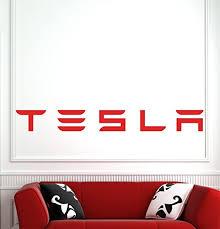 Amazon Com Tesla Wall Decals Decor Vinyl Stickers Gmo3595 Home Kitchen