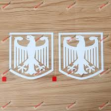 Amazon Com 2x White 4 German Coat Of Arms Eagle Decal Sticker Car Vinyl Germany Deutschland Die Cut Framed Kitchen Dining