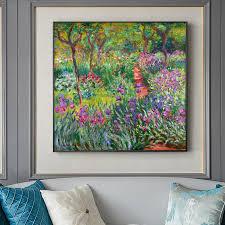 Famous Artists Wall Art Claude Monet The Iris Garden At Giverny Fine Art Canvas Print Nordicwallart Com