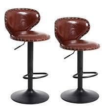 adjustable metal leather bar stools