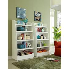 Ameriwood Home Neptune Kids White 4 Shelf Bookcase Hd50384 The Home Depot