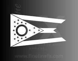 Ohio State Flag Vinyl Decal Sticker Ohio Flag Decal For Car Windows