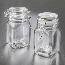 large glass apothecary jar hinged top