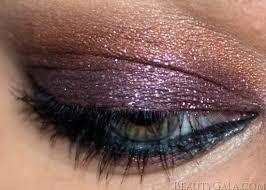 makeup look violet sunset eyes