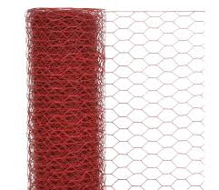 Vidaxl Chicken Wire Fence Steel With Pvc Coating 25x1 5 M Red Vidaxl Co Uk