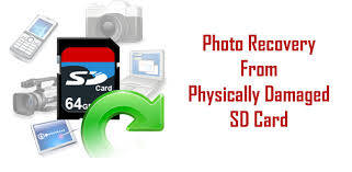physically damaged sd card