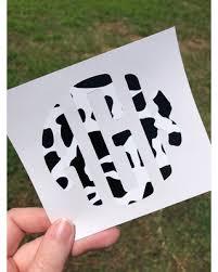 Amazing Deal On Cow Print Monogram Decal Car Yeti