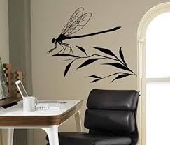 Amazon Com Dragonfly On A Branch Wall Decal Flying Adder Wall Vinyl Sticker Insects Home Interior Living Room Removable Decor 10 Dfl Kitchen Dining
