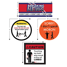 Bumper Stickers Decals Magnets Funny Warning Prank Sticker Pack Vinyl Decals For Guys Men Toolbox Fathers Day Mechanics Stainless Steel Tumblers Tools Hard Hat Shop Garage Truck Car Bumper Made
