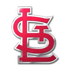 St Louis Cardinals Color Emblem 3 Car Team Decal
