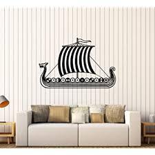 Amazon Com V Studios Vinyl Decal Viking Ship Scandinavian Children S Rooms Wall Stickers 049ig Home Kitchen