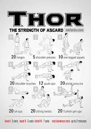 thor bodyweight workout routine pop