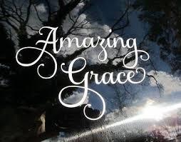 Amazing Grace Vinyl Auto Window Decal Religious 4 Tall X 6 Wide Ships Free Ebay