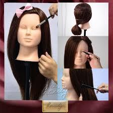head mannequin cutting practice makeup